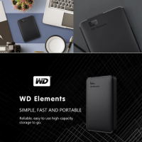 WD Elements Portable External Hard Drive 2TB