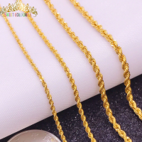 100% 18K Gold Women's Necklace Fashion&Trendy yellow white rose lady unisex Female's chain