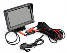 "4.3"" TFT LCD Car Rear View Monitor Night Vision Reverse Camera Black"