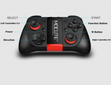 Multifunction Bluetooth Game Controller Black