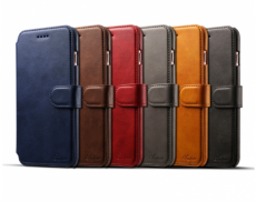 Leather Retro Wallet Cover Back Case