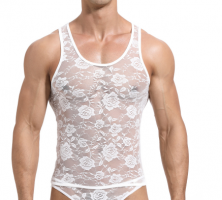 Lace Men Tank Top