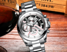 CADISEN  Quartz Stainless Steel Wristwatch